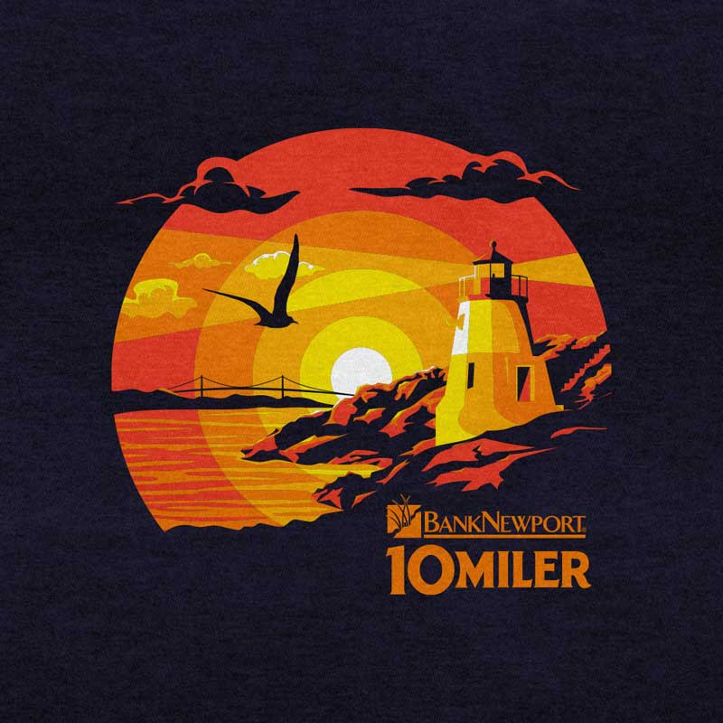 Newport 10 Miler: 2020 shirt artwork