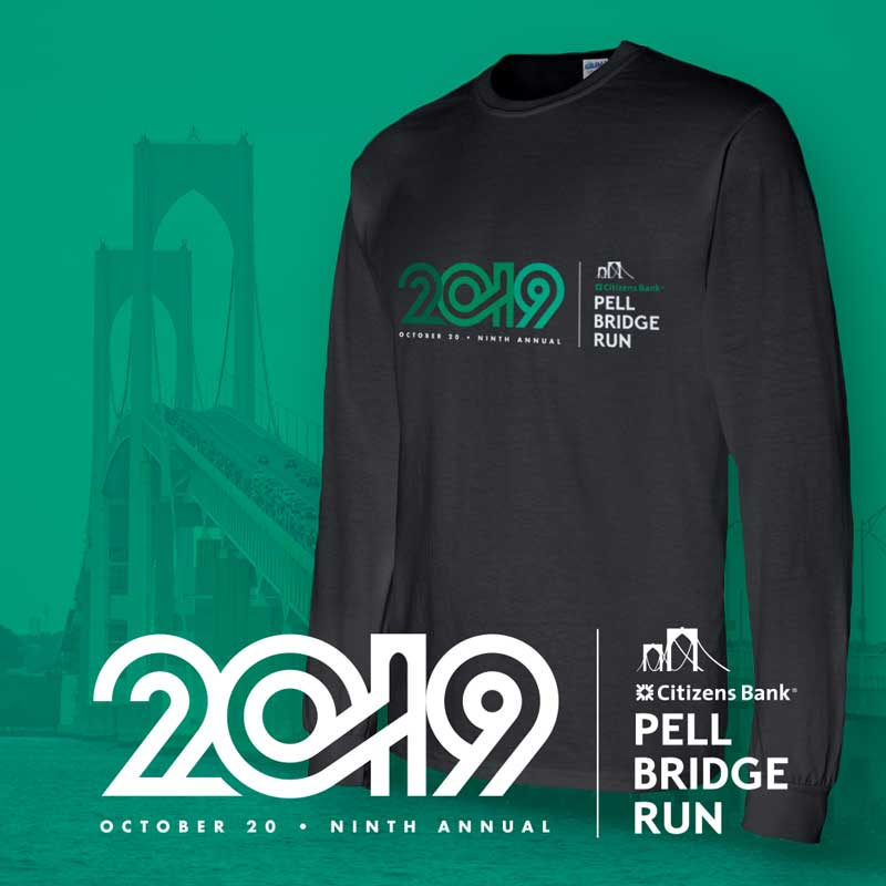 Citizens Bank Pell Bridge Run: 2019 Branding and Shirt art