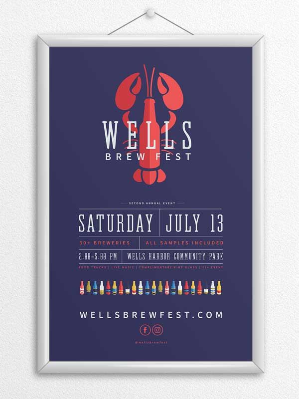 Wells Brew Fest: Poster